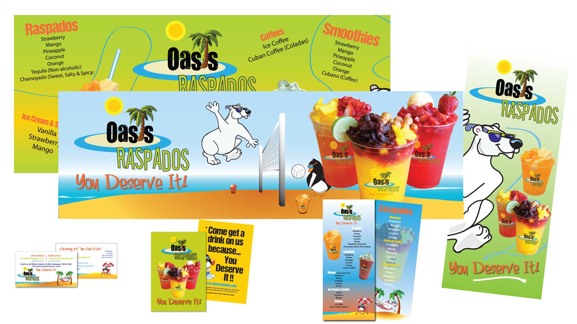 Printed items for Oasis Raspados